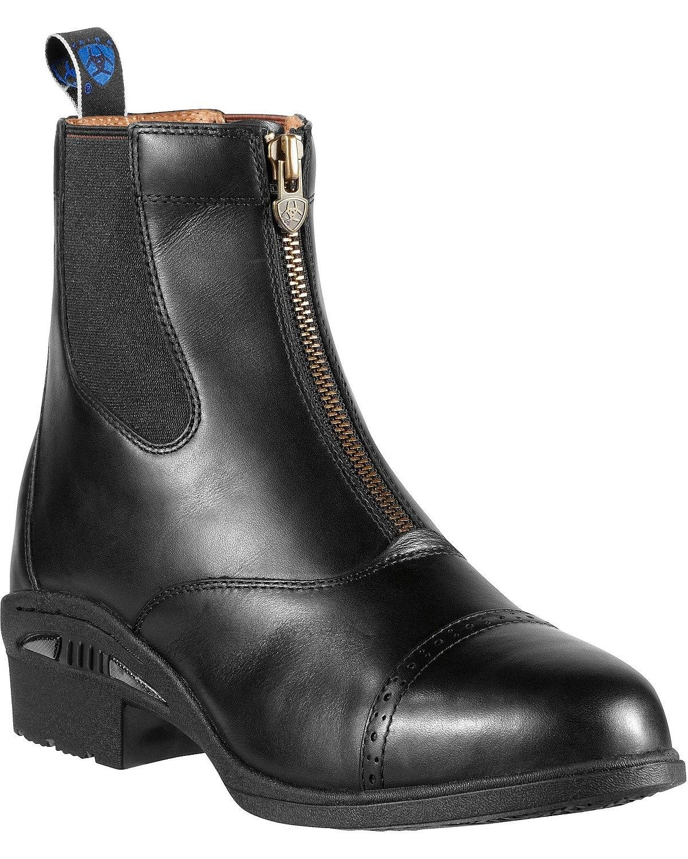 Ariat Men's Devon Pro Waterproof Zip-Up Boot Round Toe Black 10.5 D(M) US