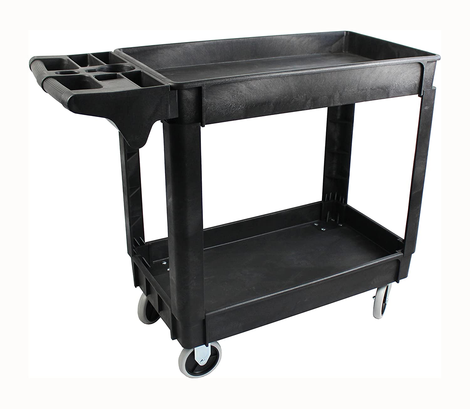 "MaxWorks 80855 500-Pound Service Cart With Two Trays (40"" x 17"" Overall Dimensions)"