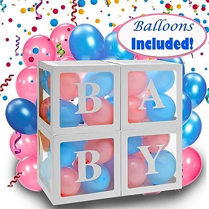 CUBEZ Baby Boy Or Girl Letter Block Blue /& Green Shower Birthday Party Balloon