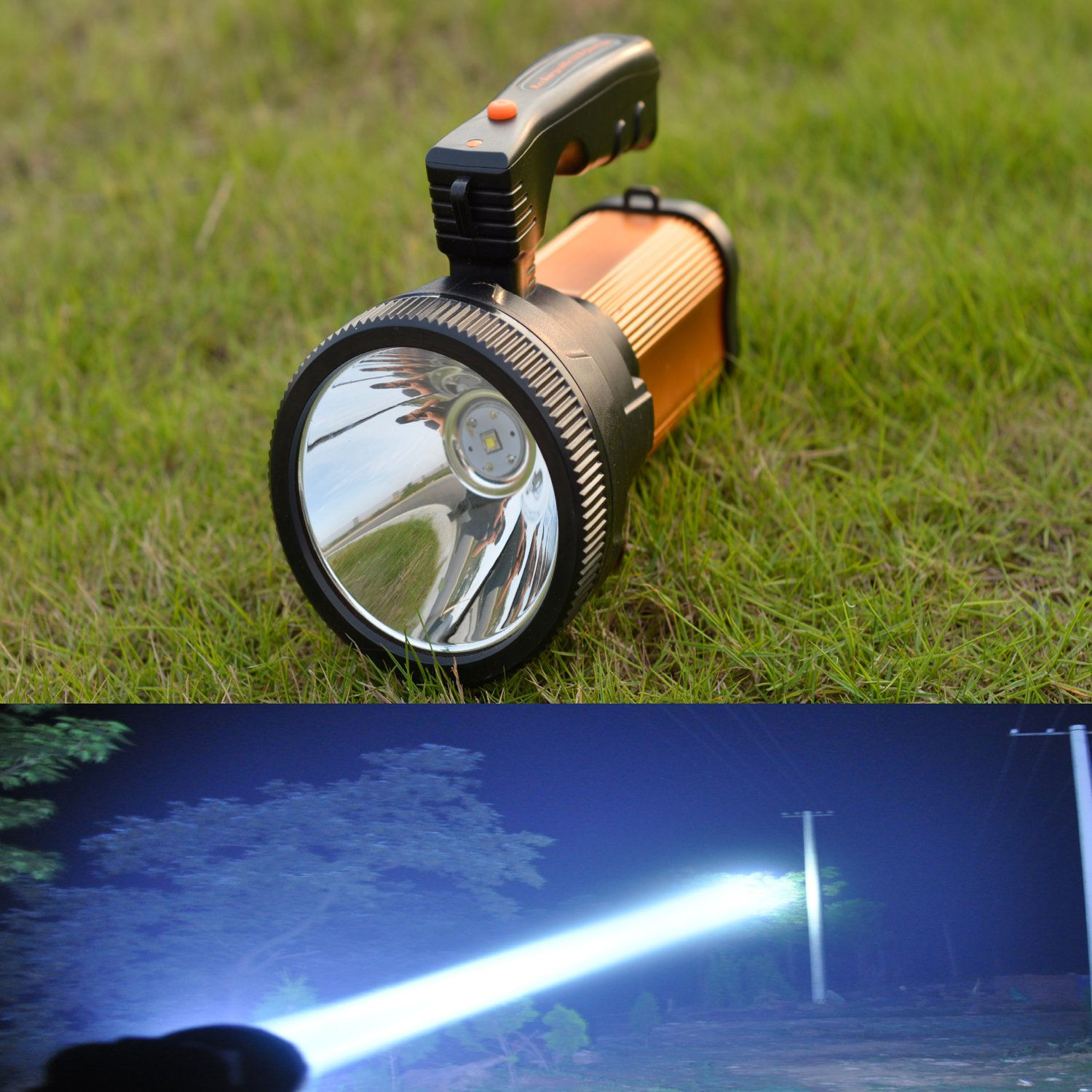 Handheld Rechargeable Hunting Light Portable Spotlight High Power Super Bright