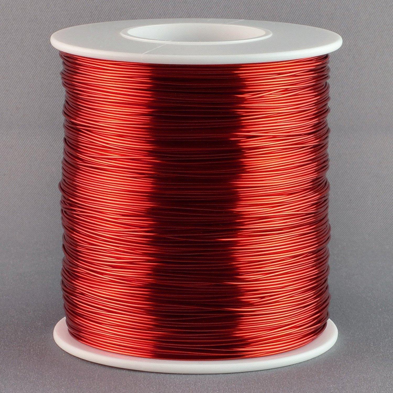 Aimant Fil Calibre 22/AWG en cuivre /émaill/é 500/Pieds Bobine denroulement 155//°C Rouge
