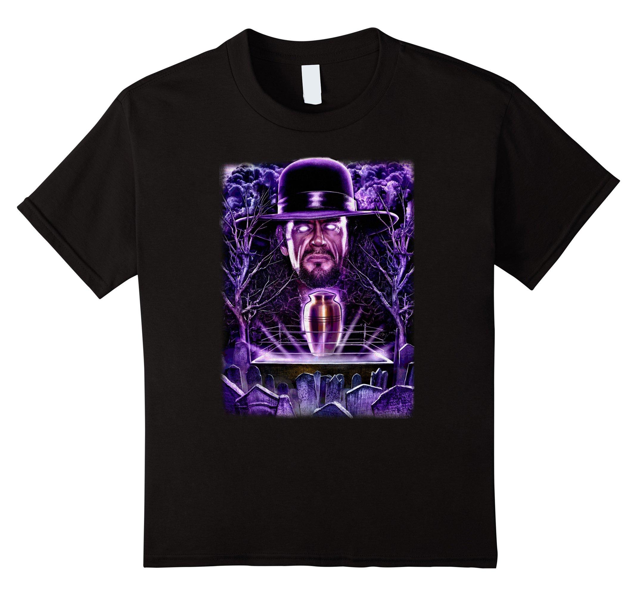 Kids WWE Undertaker Urn And Souls Wrestling Graveyard T-Shirt 12 Black