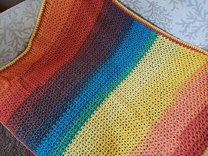 Amazoncom Rainbow Baby Blanket Handmade