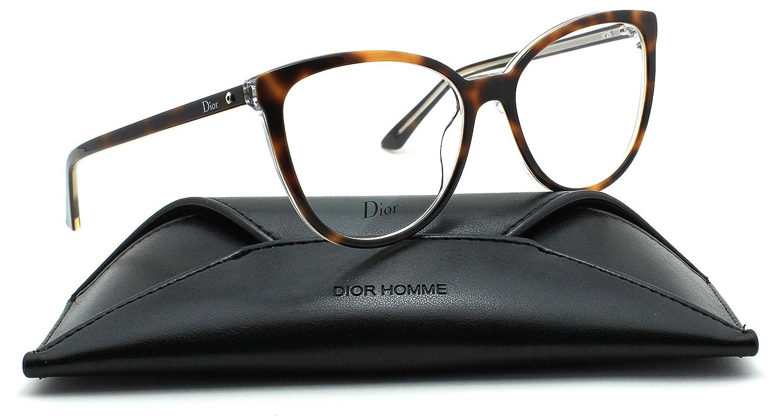 cea69ca60f0 Christian Dior Montaigne 25 Round Women Eyeglasses (Havana Crystal Frame  0U61
