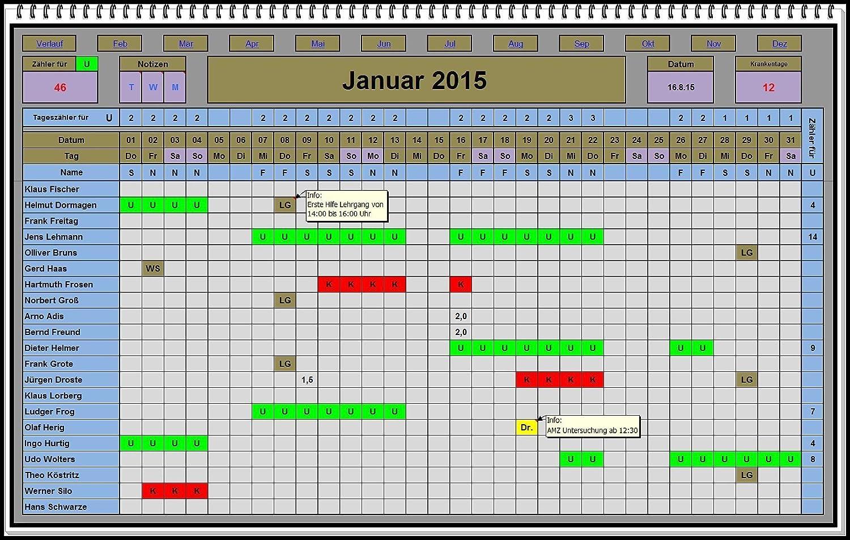Digitaler Excel Urlaubsplaner 2021 2022 u.s.w Software ...