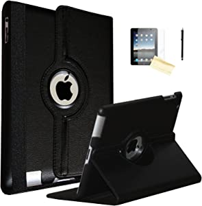 JYtrend iPad Air Case, (R) Rotating Stand Smart Case Cover Magnetic Auto Wake Up/Sleep for iPad Air (Air 1) A1474 A1475 A1476 (Black)