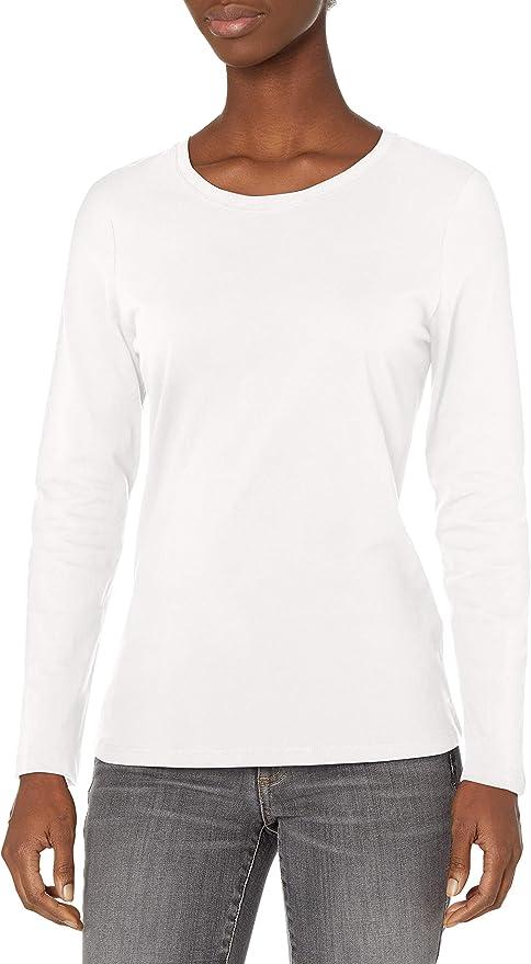 Camiseta Hanes de manga larga para mujer