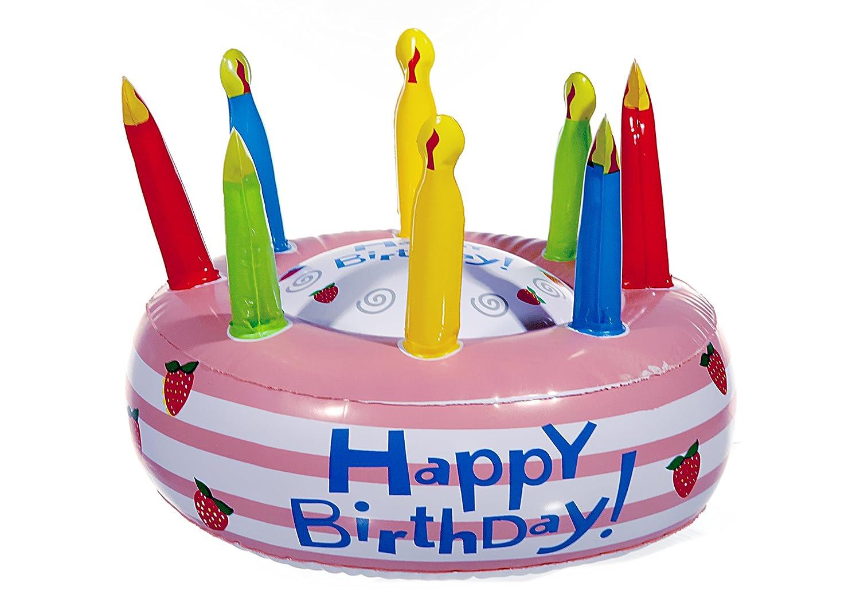 1 x hinchable para tartas tarta de cumpleaños Happy Birthday 26 cm ...