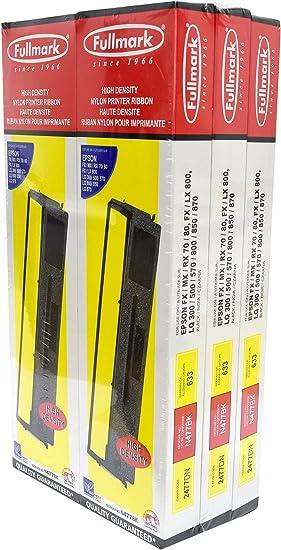 EPSON Black Ribbon Cartridge 8750 GENUINE Series FX LX ACTION PRINTER 2000 NEW