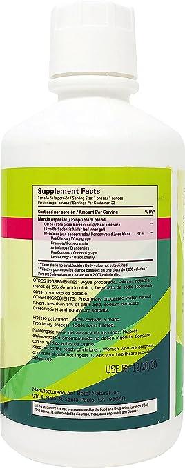 Amazon.com: Gel de Sabila con Frutas by Betel Natural - Aloe Vera Gel with Fruit - 32 Oz: Health & Personal Care