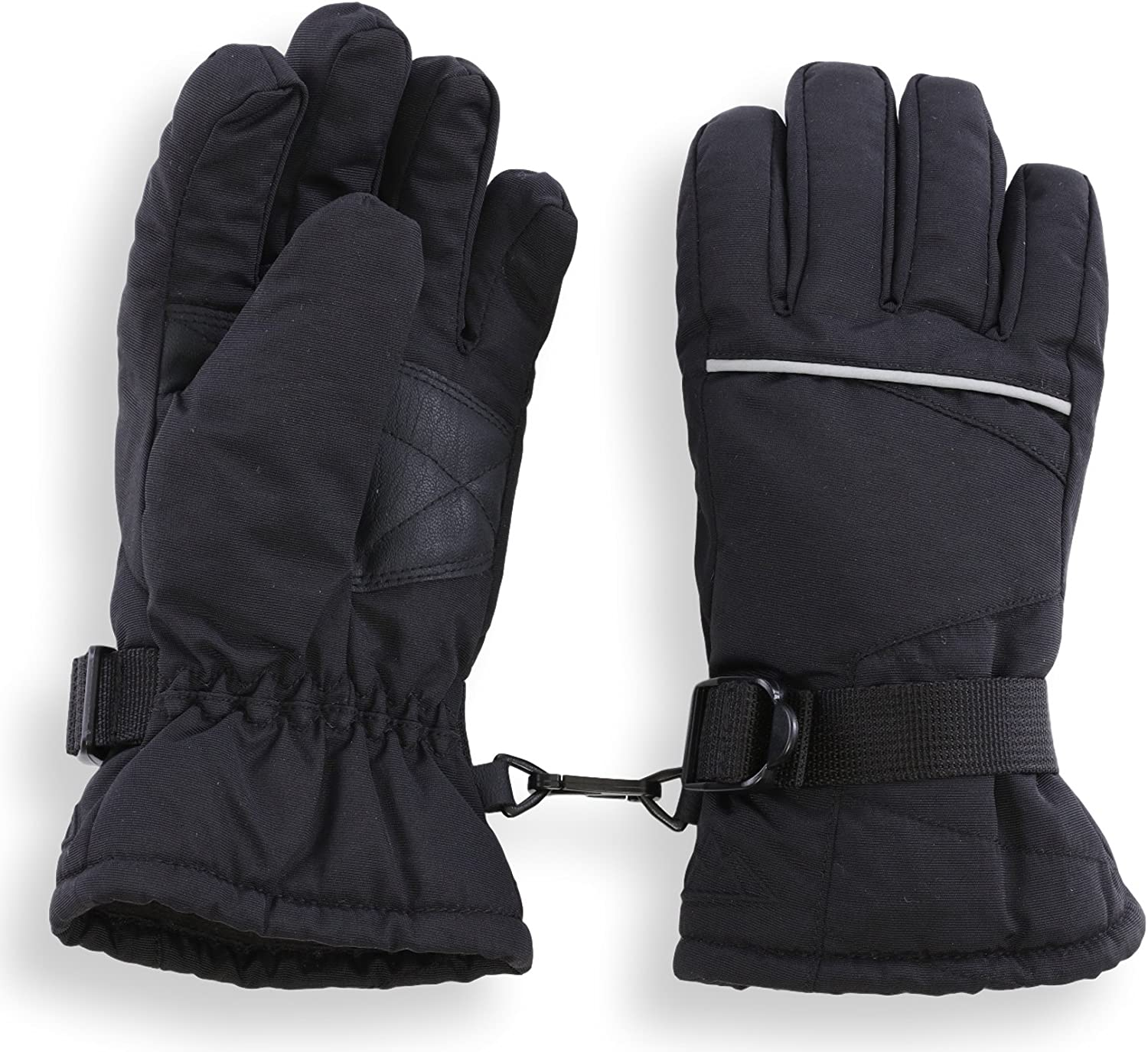 Kids Winter Gloves Snow /& Ski Waterproof Gloves for Boys Skiing /& Snowboarding Windproof Thermal Shell /& Synthetic Leather Palm Girls Designed for Cold Weather Outdoor Play Toddler /& Youth
