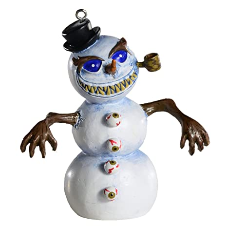Horror Christmas Ornaments.Killer Snowman Horror Ornament Scary Prop And Decoration For Halloween Christmas Parties And Events Jaed Demers Series By Horrornaments