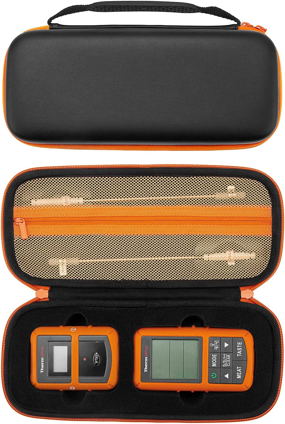 Fromsky Case for Thermopro TP20/ TP08S/ TP07 Wireless Remote Digital Cooking Food Meat Thermometer, Portable Hard Carrying Case Travel Protective Cover Storage Bag