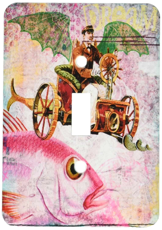 3dRose lsp/_130447/_1 Steampunk Dream Digital Art by Angelandspot Single Toggle Switch