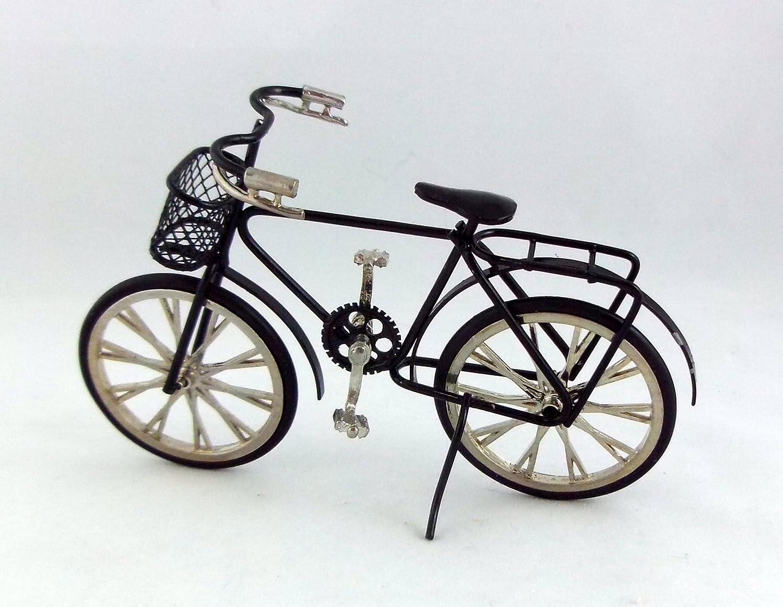 Vélo de course noir échelle 1:12 accessoire miniature jardin maison de poupée Town Square Miniatures