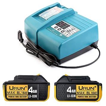 Cargador de 1,5 A con 2 X de 18 V 4,0 Ah Batería de