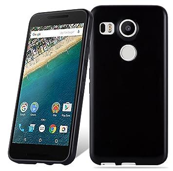 Cadorabo Funda para LG Nexus 5X en Negro – Cubierta Proteccíon de ...