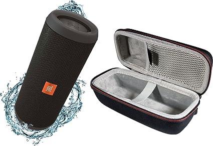 Amazon Com Jbl Flip 3 Portable Splashproof Bluetooth Wireless Speaker Bundle With Hardshell Case Black Home Audio Theater