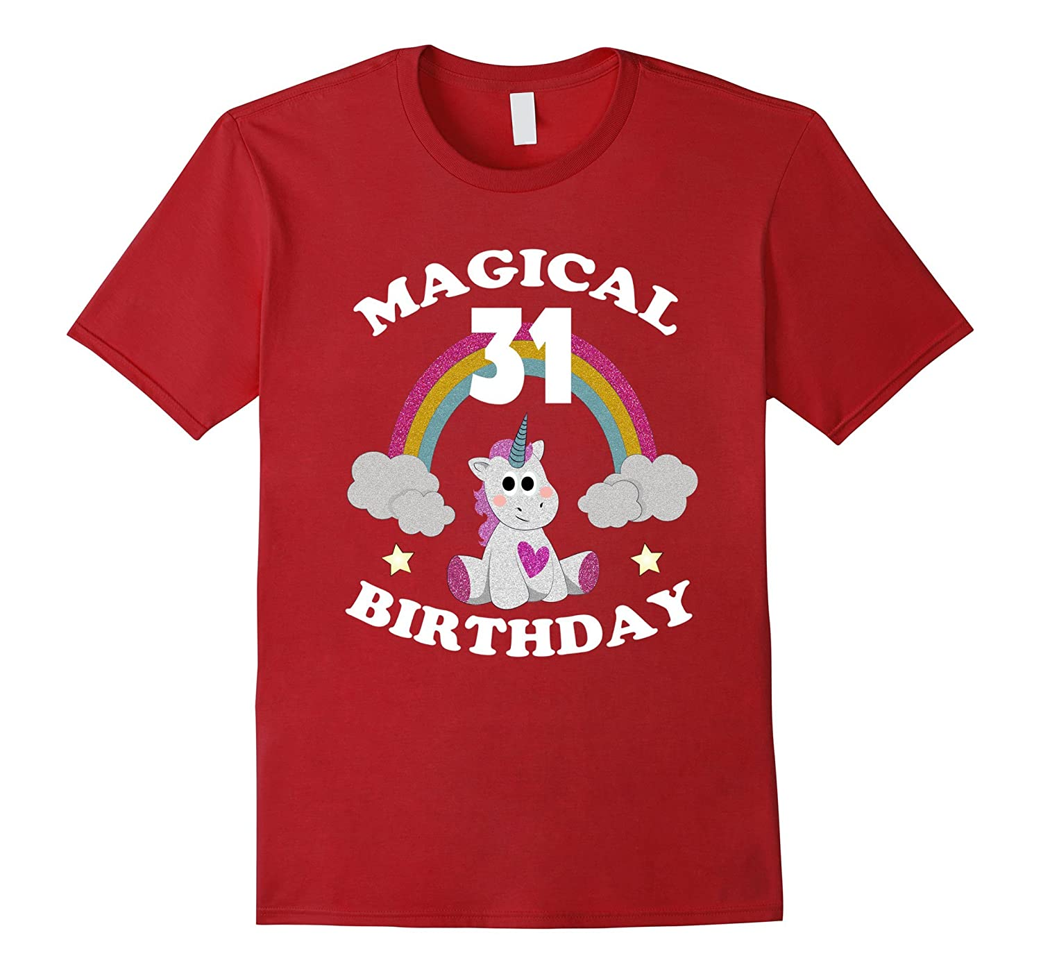 31st Birthday Shirt Magical Unicorn T Rainbow TH