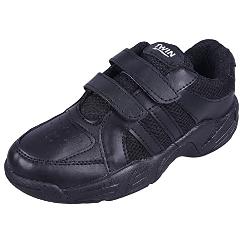 fc2f370133bd TWIN Roursch School Uniform Shoe TSH-46010 Black Velcro for Boy s and Girls  (Unisex Shoe) (1)  Buy Online at Low Prices in India - Amazon.in