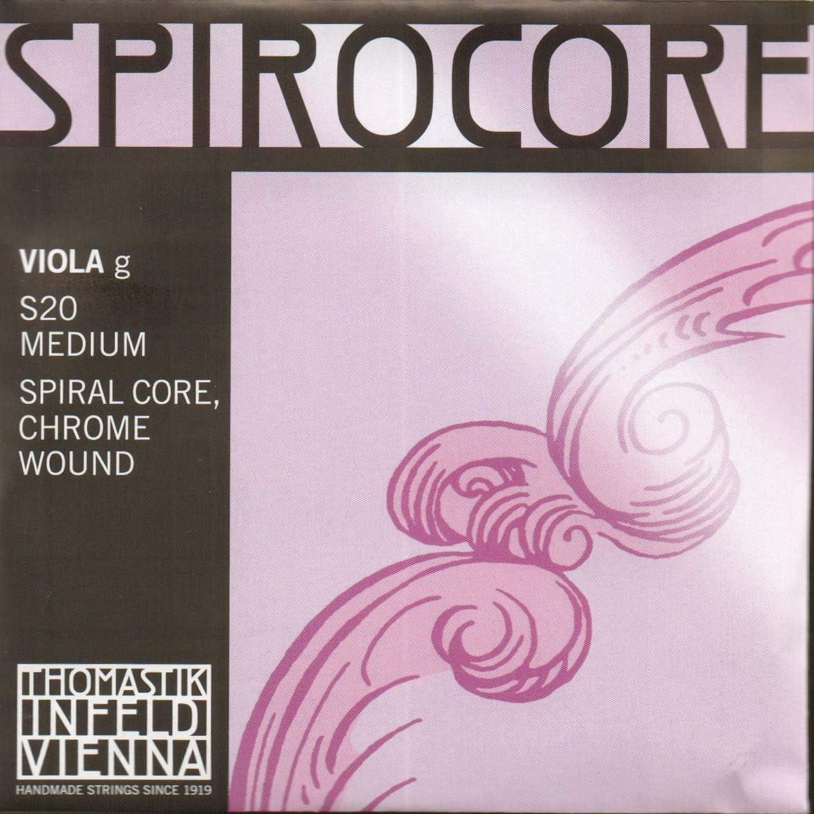 G-string spiral core chrome steel wound medium Thomastik Single string for Viola 4//4 Spirocore