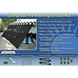 Amazon Com Black Rv Awning Shade Complete Kit 10 X 16