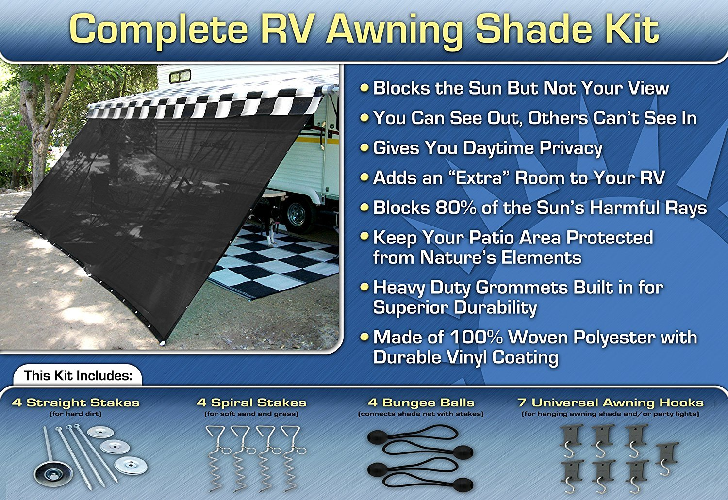 screen mat sunscreen new rv prompt and of shade awning forums