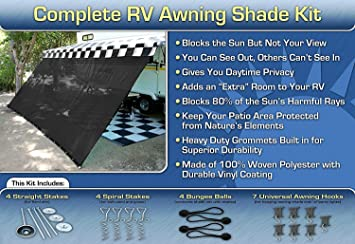 RV Awning Shade Complete Kit 8x20