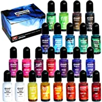 Alcohol Ink Set - 24 Highly Saturated Alcohol Inks - Acid-Free, Fast-Drying and Permanent Alcohol-Based Inks - Versatile…