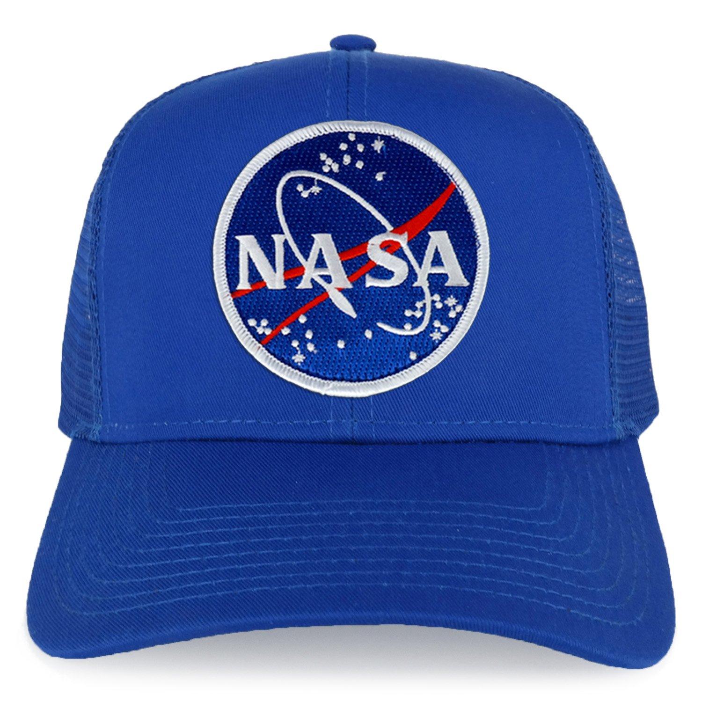 Armycrew XXL Oversize NASA Meatball Logo Patch Mesh Back Trucker Baseball Cap