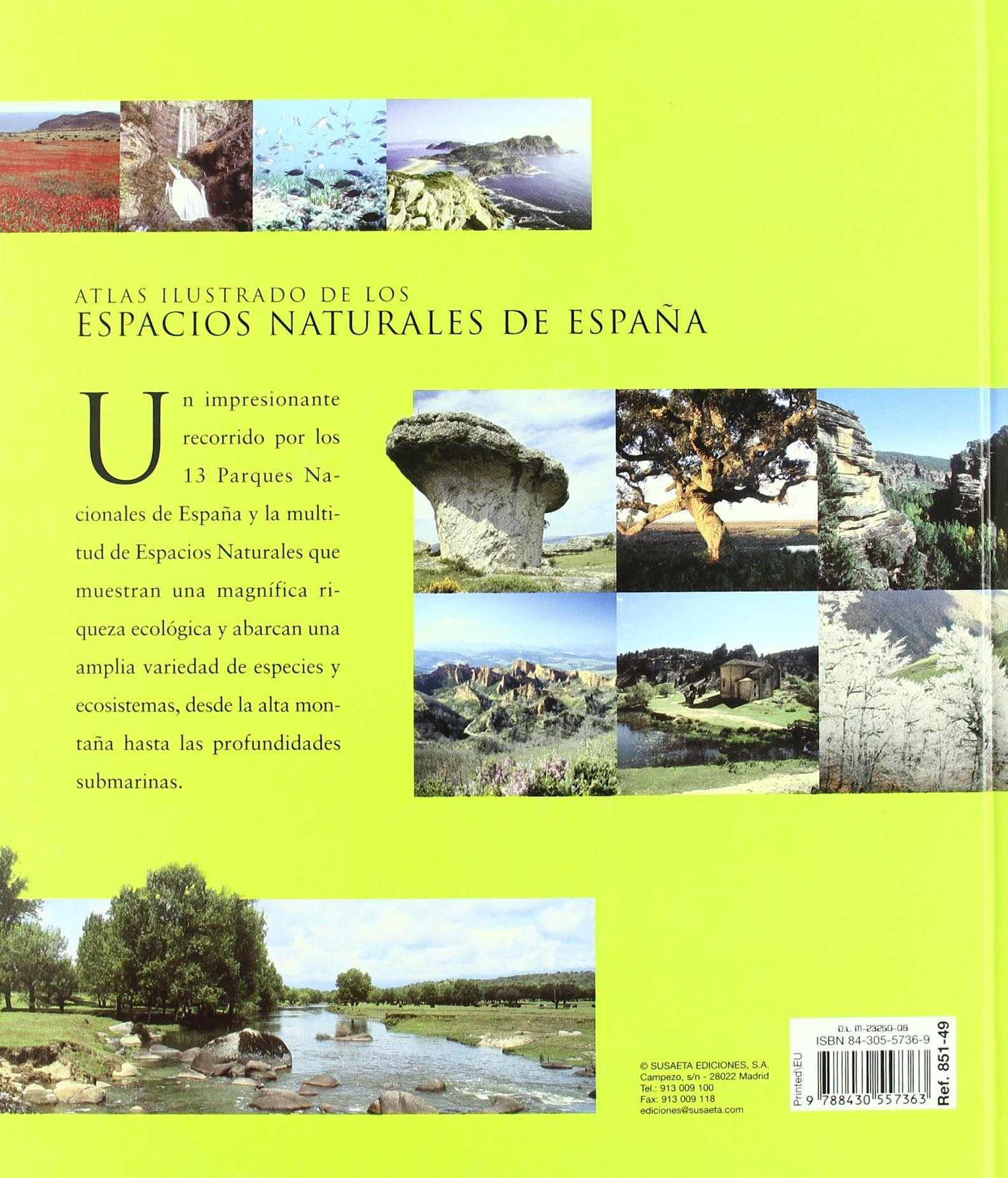 Espacios Naturales De España,Atlas Ilustrado: Amazon.es: Susaeta, Equipo: Libros