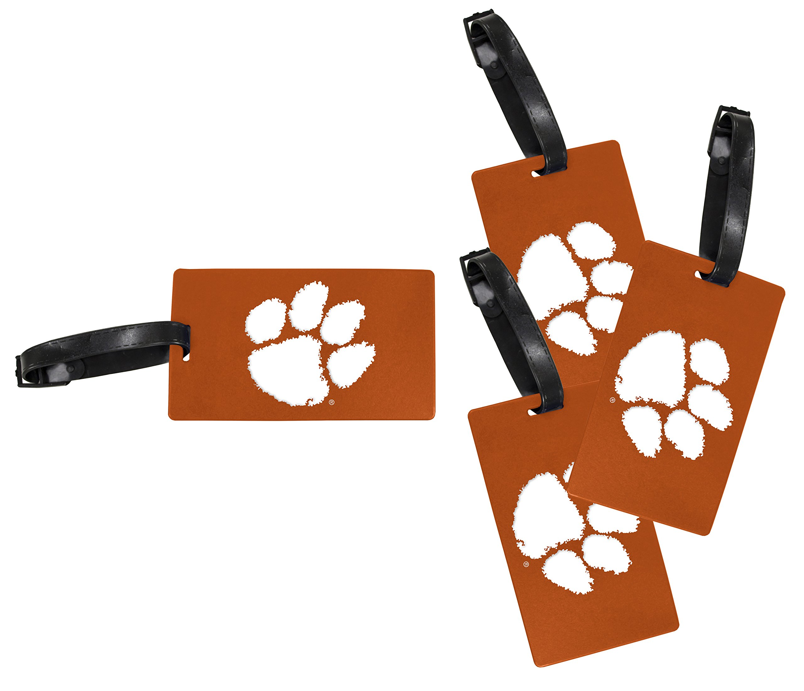 Clemson Tigers Luggage Tag 4-Pack by R and R Imports