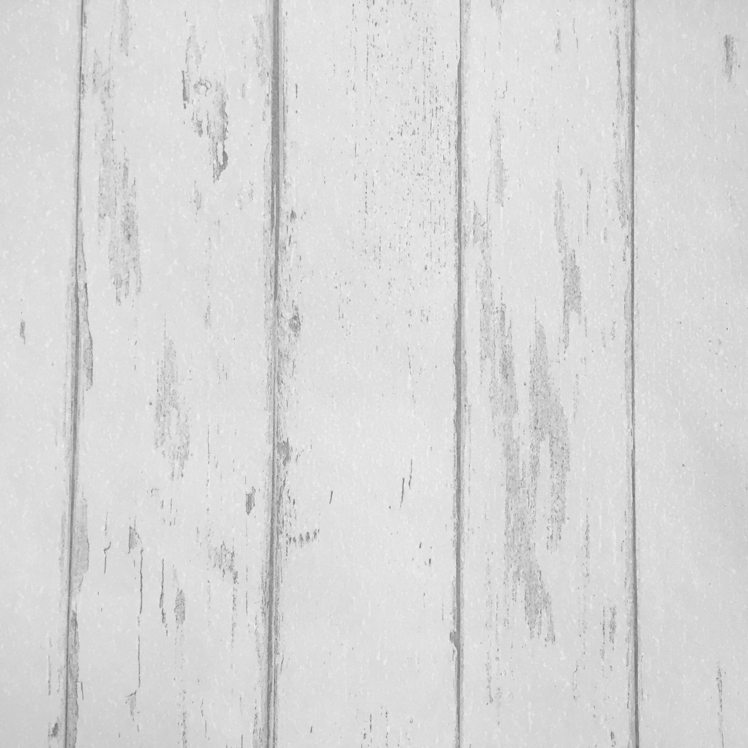 Country Rustic Wood Plank Wallpaper, Off White Distressed Wood Panel Wallpaper Roll 20.8 inch x 32.8 Feet (Non-Adhesive), 1 Roll Pack