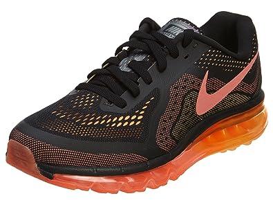 Nike Air Max 2014 Black-Bright Mango Men's Running Shoe 12 US