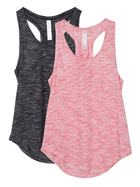 icyzone Camiseta sin Mangas de Yoga para Mujer Chaleco ...