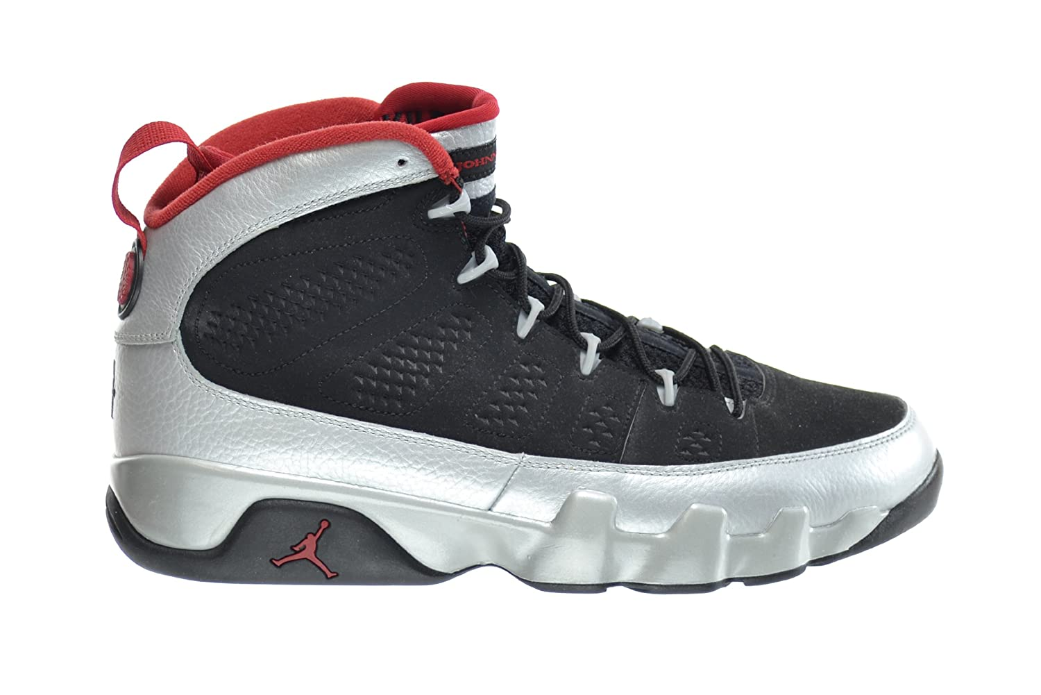 Air Jordan 9 Retro (gs) photo Blue Black 302359-007  7|Black, Metallic Platinum-gym Red