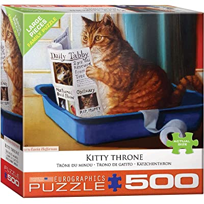 Kitty Throne by Lucia Heffernan 500Piece Puzzle: Toys & Games