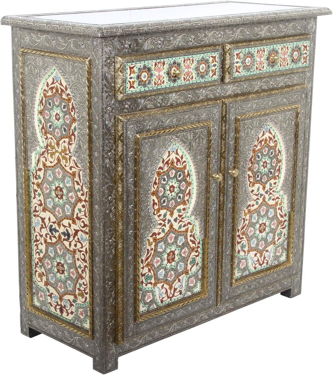 Petite Commode A Bijoux En Bois De Thuya Fait Main Style Artisanat Marocaine