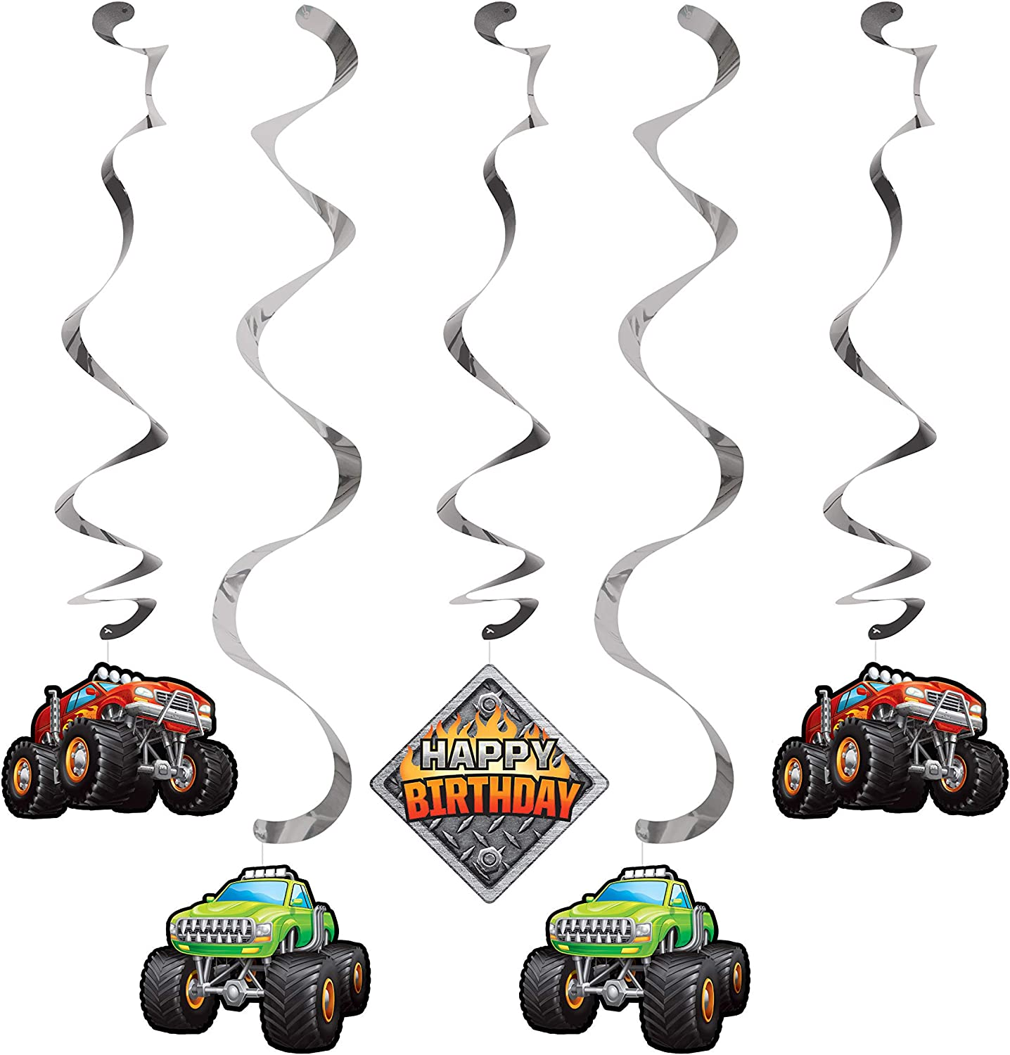 Monster Truck Dizzy Danglers, 5 ct