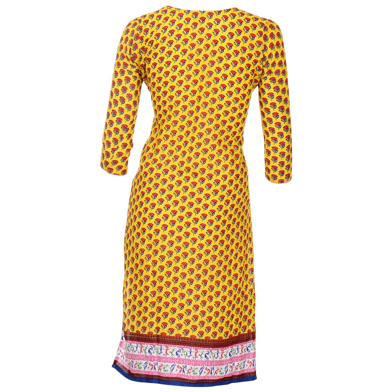 Pranjal Women's Cotton Straight Kurta
