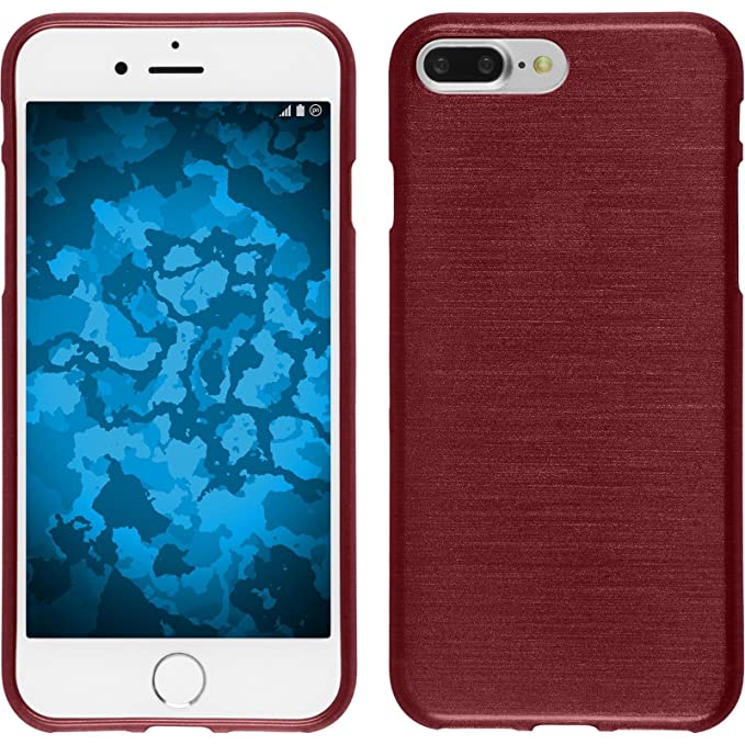 custodia iphone se silicone rossa