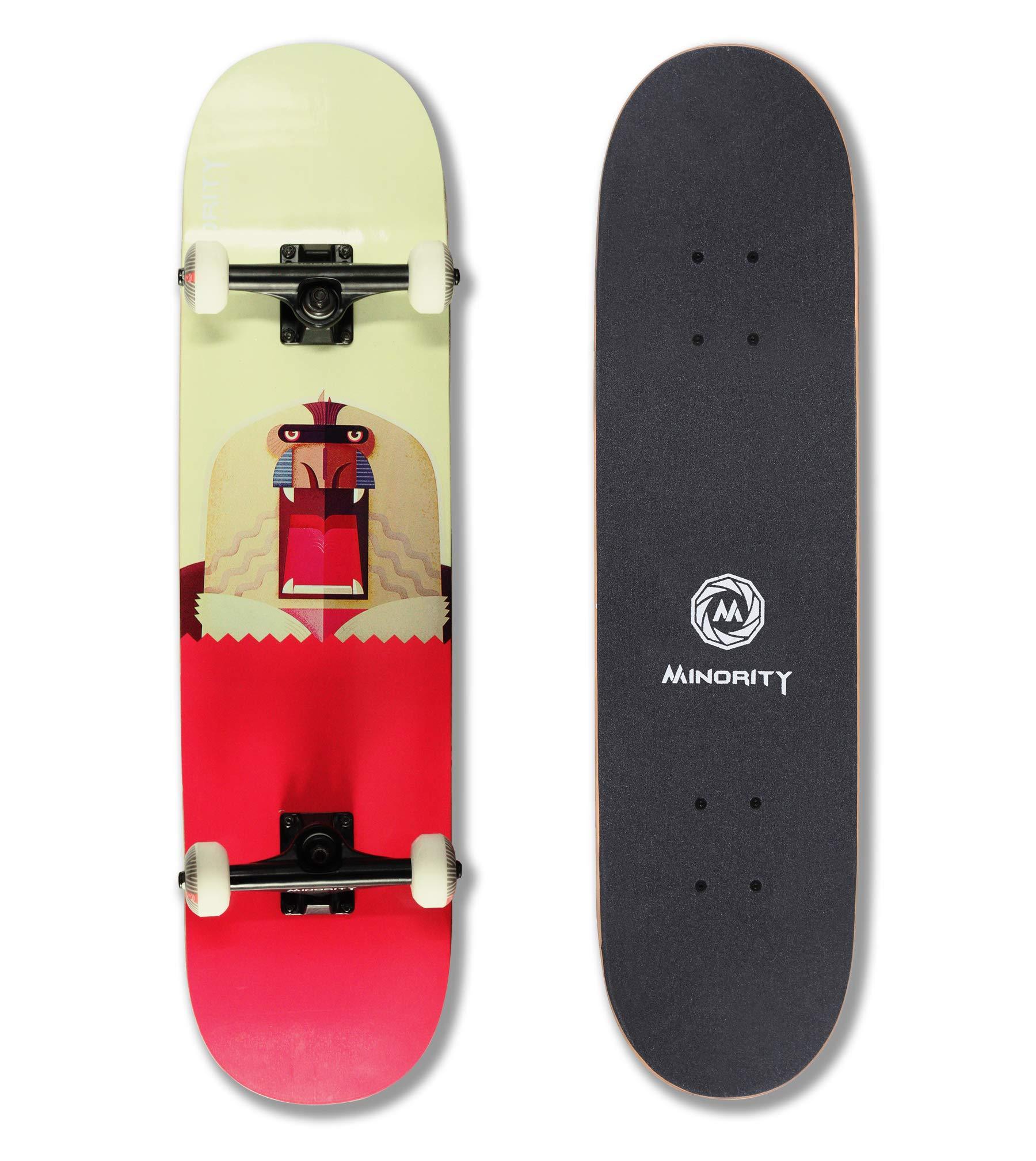 MINORITY 32inch Maple Skateboard (Baboon) by MINORITY