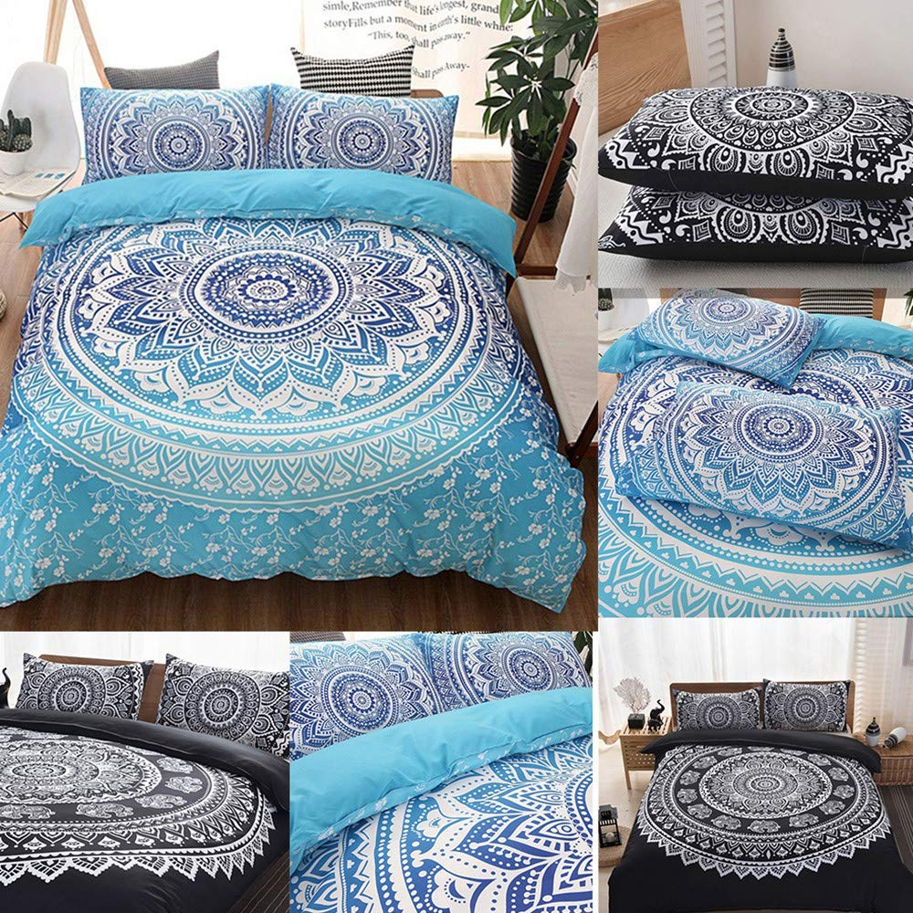 Beyonds Skin-Friendly 3 Piece Bed Set Deep Pockets Bedding Set Includes x1 Duvet Cover x2 Pillowcases - Soft Polyester Fabric - Home School Bed Decor