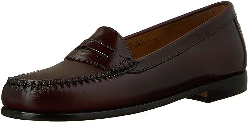 G.H. Bass & Co. - Zapatillas de Deporte de Cuero para Mujer, Color Rojo