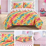 Emoji Girls Complete 7 Piece Reversible Bedding Comforter Set - Full