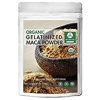 Naturevibe Botanicals Organic Gelatinized Maca Powder 1lb   Lepidium Meyenii Walp   Gluten-Free & Non-GMO