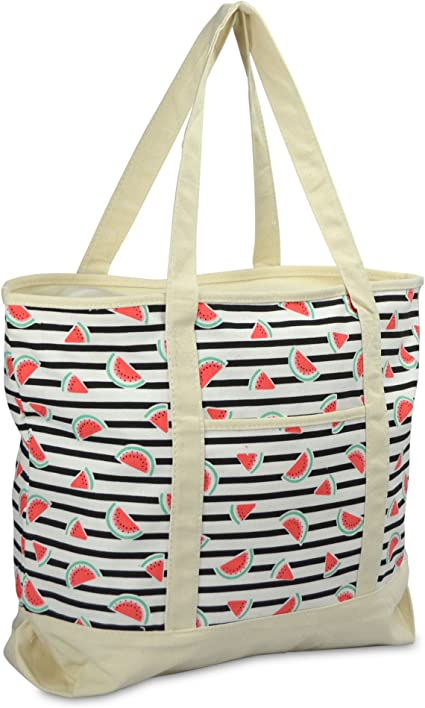 Yours Clothing Women/'s Navy Flamingo Print Beach Bag