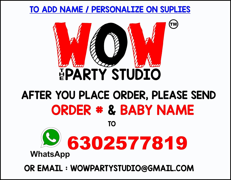 WoW Party Studio Personalized Disney McQueen Car Theme Birthday ...