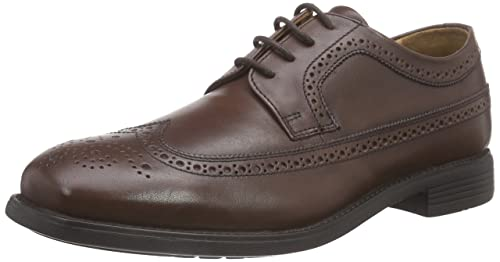 Manz Roma - zapato oxford de cuero hombre, color marrón, talla 42 UE (8 de hombre UK)