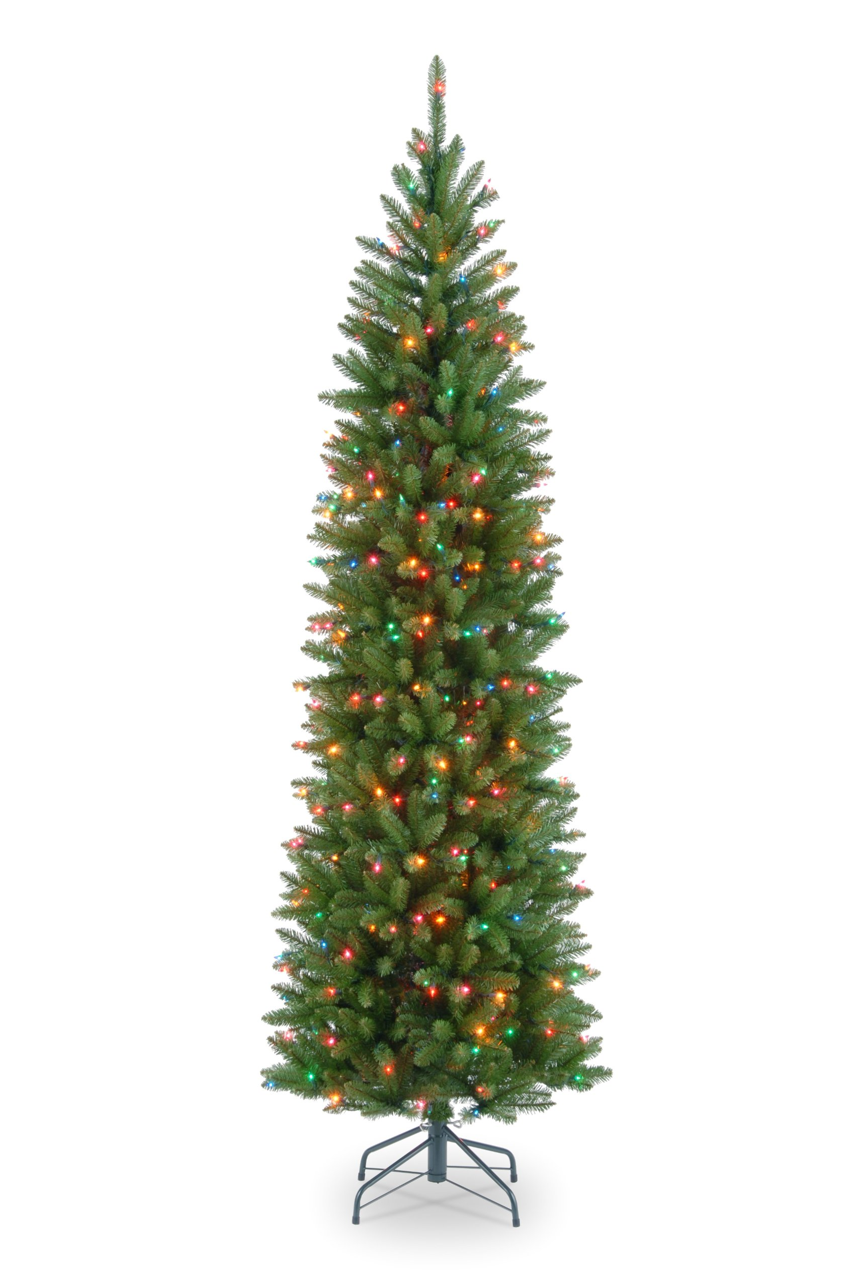 National Tree 6.5 Foot Kingswood Fir Pencil Tree with 250 Multicolor Lights, Hinged (KW7-313-65) by National Tree Company (Image #2)